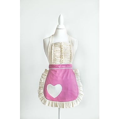 One Allium Way Heart Apron; Bubblegum Pink