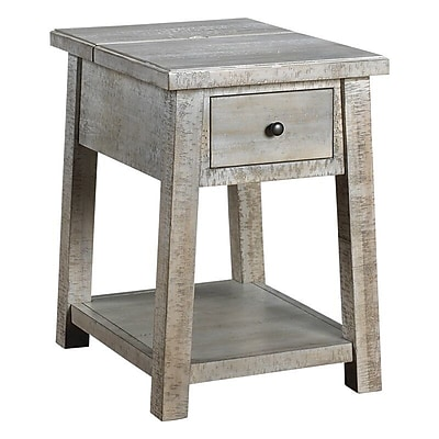 French Heritage Courchevel End Table w/ Storage