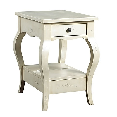 French Heritage D'Orsay End Table w/ Storage