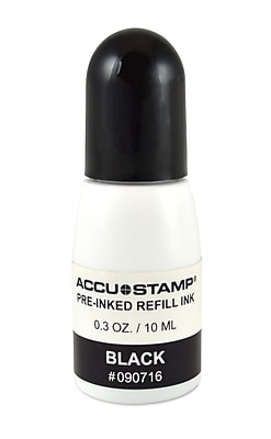 Cosco® Evostamp Plus® Ink Refill for Pre-Inked Stamps, Black