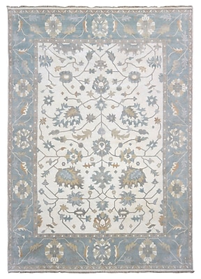 Darby Home Co Barnabe Oriental Hand-Woven Wool Beige Area Rug