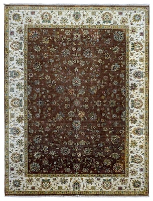 Darby Home Co Baron Oriental Hand-Woven Wool Brown Area Rug