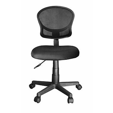Ebern Designs Bibb Rolling Mesh Office Chair; Black