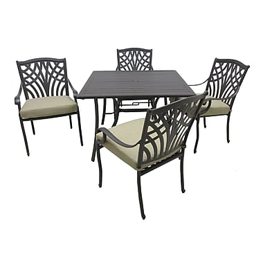 Darby Home Co Boulevard 5 Piece Dining Set w/ Cushions