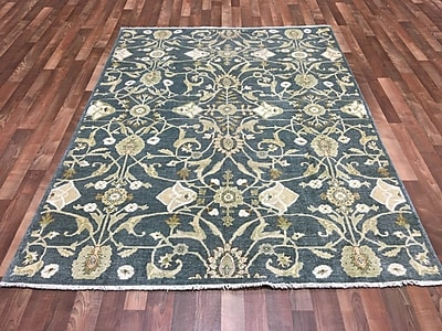 Darby Home Co Beall Hand-Woven Wool Blue Area Rug