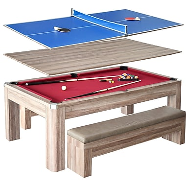 Hathaway Newport 7 Ft Pool Table Combo Set W/Benches (BG2535P)