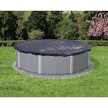 Arctic Armor BWC508 Black Round Above-Ground 4 Year Leaf Net Pool Cover, 27'