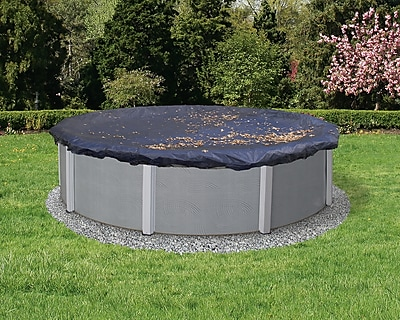 Arctic Armor BWC500 Black Round Above-Ground 4 Year Leaf Net Pool Cover, 15'