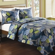 Bay Isle Home Faber Tropical Leaves Quilt; King