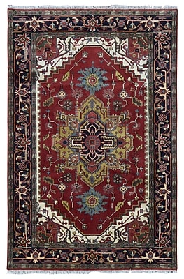 Astoria Grand Shelby Hand-Woven Wool Red Area Rug