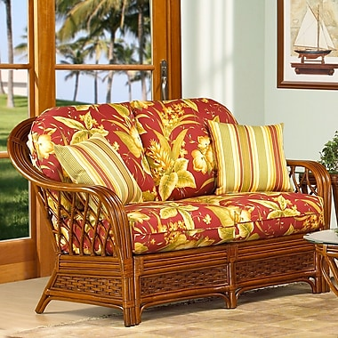 Boca Rattan Coco Cay Leather Loveseat; 641