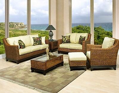 Boca Rattan Biscayne Sofa w/ Cushions; 641