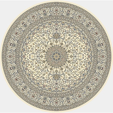 Astoria Grand Attell Ivory Area Rug; Round 5'3''