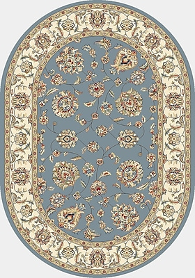 Astoria Grand Attell Woven Blue/Ivory Area Rug; Oval 5'3'' x 7'7''