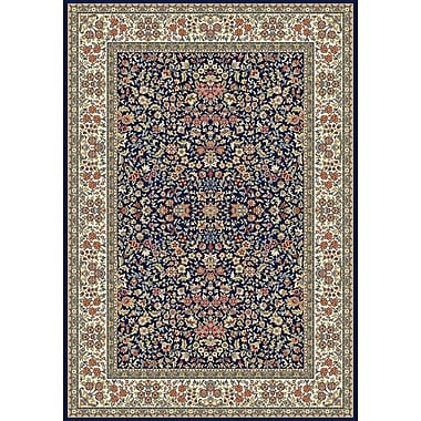 Astoria Grand Attell Blue/Ivory Area Rug; Runner 2'2'' x 7'7''