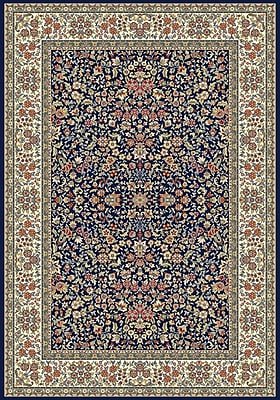 Astoria Grand Attell Blue/Ivory Area Rug; 5'3'' x 7'7''