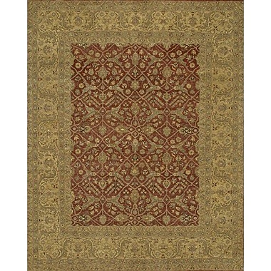 Astoria Grand Freeland Brown/Red Area Rug; 2' x 3'