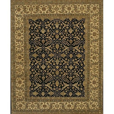 Astoria Grand Freeland Black/Tan Area Rug; 6' x 9'