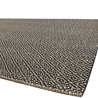 Gracie Oaks Fayean Tan & Black Area Rug; 2' x 3'