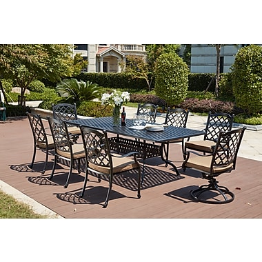 Darby Home Co Waconia Traditional 9 Piece Dining Set w/ Cushions