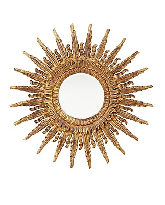 BradburnHome Leaf Double Flame Accent Mirror