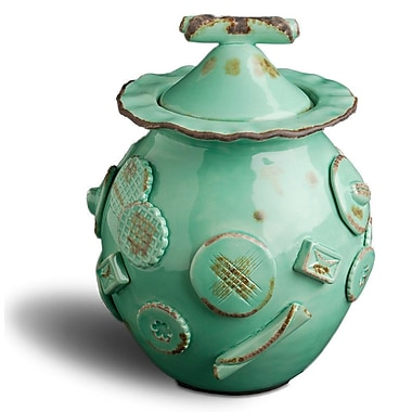 Bungalow Rose Cookie Jar; Aqua/Green
