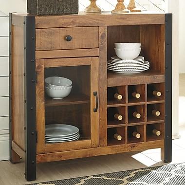 Loon Peak McLaurin 9 Bottle Floor Wine Cabinet