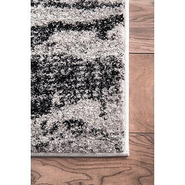 Latitude Run Stamant Black Area Rug; Rectangle 7'6'' x 9'6''