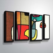 Latitude Run 'Vibrant Colorful Abstract III' Framed Graphic Art Print Multi-Piece Image