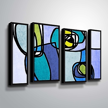 Latitude Run 'Vibrant Colorful Abstract' Graphic Art Print Multi-Piece Image w/ Floater Frame