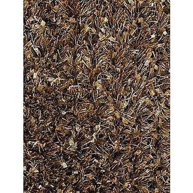 Latitude Run Steiger Wool Brown/Tan Area Rug; 5' x 7'6''