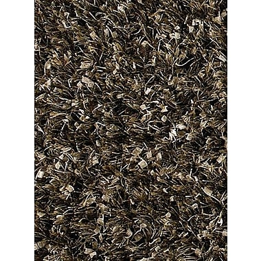 Latitude Run Steiger Tan/Black Area Rug; Round 7'9''