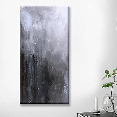 Williston Forge 'Licorice Rain' Print on Canvas; 24'' H x 12'' W