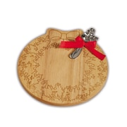 The Holiday Aisle Wood Wreath Cheese Board and Platter