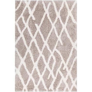 Union Rustic Manolla Hand-Woven Gray/White Area Rug; 7'9'' x 10'6''