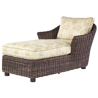 Woodard Sonoma Chaise Lounge w/ Cushion; Paris Honeydew