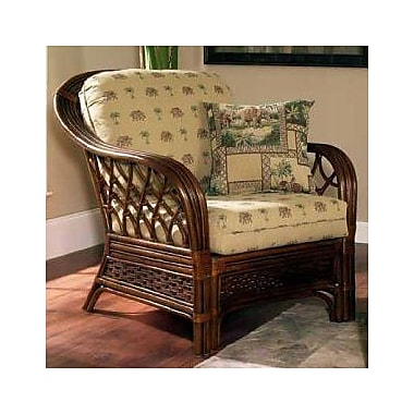 Boca Rattan Coco Cay Leather Armchair; 491