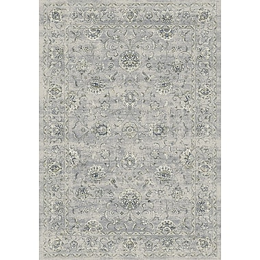 Astoria Grand Attell Oval Silver/Gray Area Rug; 3'11'' x 5'7''