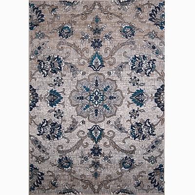 Home Dynamix Tremont Cream/Blue Area Rug; 5'3'' x 7'2''