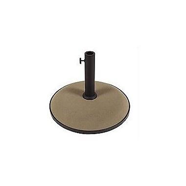 Darby Home Co Sanders Concrete Free Standing Umbrella Base; Champagne Bronze
