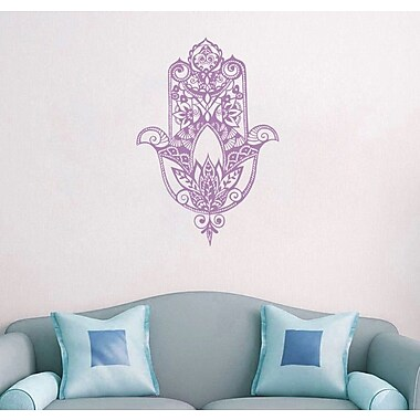 Decal House Fatima Hand Wall Decal; Lilac