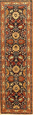 Pasargad NY Tabriz Hand-Knotted Wool Blue/Rust Area Rug