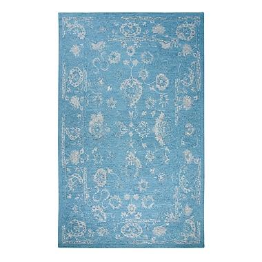 Bungalow Rose Montoya Turquoise Area Rug; 3'3'' x 5'3''