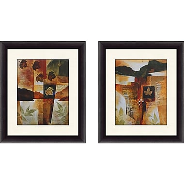 August Grove 'Autumn Melody I' 2 Piece Framed Graphic Art Print Set