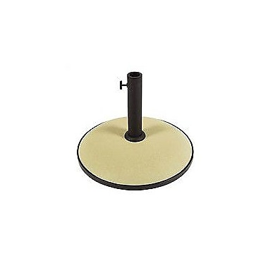 Darby Home Co Sanders Concrete Free Standing Umbrella Base; Beige