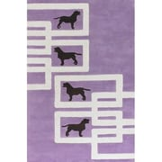 East Urban Home Valencia Dog Purple/White Novelty Rug; 5' x 7'6''