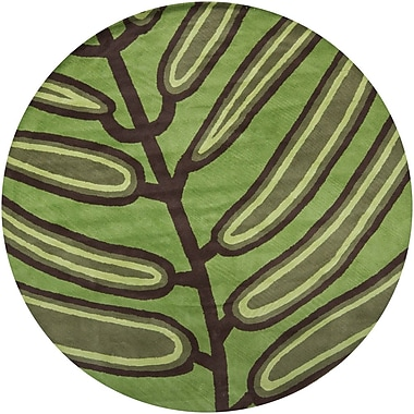 Latitude Run Steib Green Area Rug; 5' x 7'6''