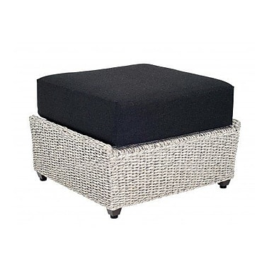 Woodard Isabella Ottoman w/ Cushion; Paris Blush