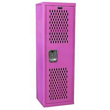 Hallowell 1 Tier 1 Wide Storage Locker; Pink
