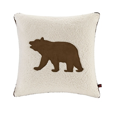 Woolrich Bear Berber Throw Pillow